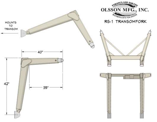 RS-1 / RS-1 HD The Original Transom Davit